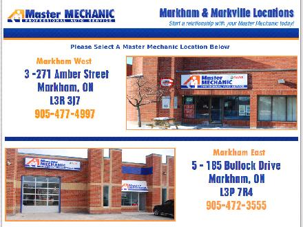 Master Mechanic (905-477-4997) - Website thumbnail - http://www.mastermechanicmarkham.com