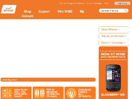Windmobile.ca - Onglet de site Web - http://www.windmobile.ca