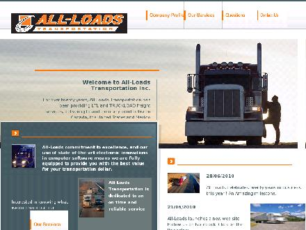 All-Loads Transportation Inc (1-800-563-7200) - Onglet de site Web - http://www.allloads.com