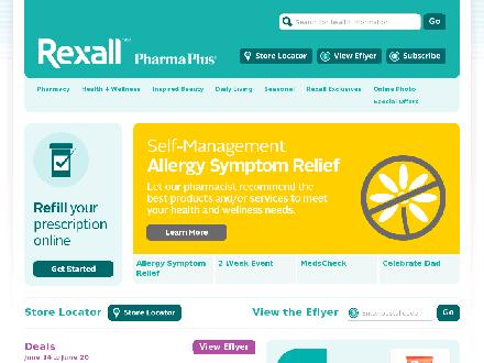 Rexall Drug Store (613-820-4980) - Onglet de site Web - http://www.rexall.ca