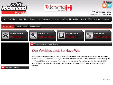 Richmond Honda (604-207-1888) - Website thumbnail - http://www.richmondhonda.com