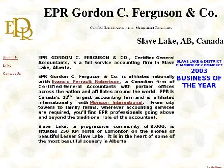 EPR Gordon C Ferguson & Company Certified General Accountants (780-849-4949) - Website thumbnail - http://www.gcferguson.com
