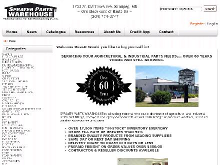 Sprayer Parts Warehouse (204-774-3747) - Onglet de site Web - http://www.spwarehouse.ca