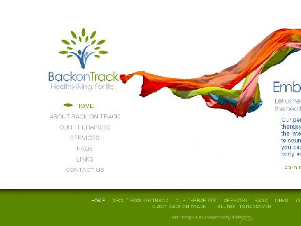 Back on Track (709-738-8080) - Onglet de site Web - http://www.backontracknl.com