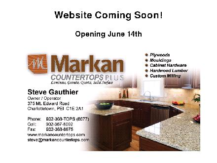 Markan Counter Tops (902-368-8677) - Website thumbnail - http://www.markancountertops.com