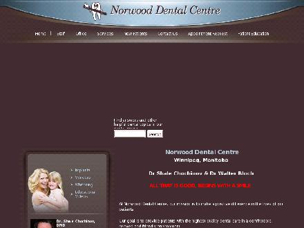 Norwood Dental Centre (204-235-0085) - Onglet de site Web - http://www.norwooddental.ca