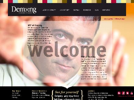 Demong Associate Eyecentre (403-254-6007) - Website thumbnail - http://www.demong.com