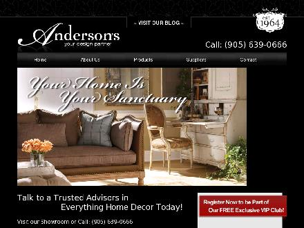 Anderson Carpet & Home Limited (905-639-0666) - Website thumbnail - http://www.andersoncarpetandhome.com