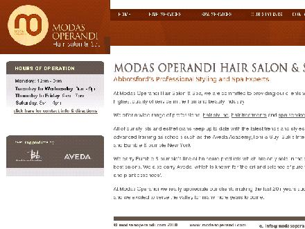 Modas Operandi Hair Salon Ltd (604-557-7589) - Website thumbnail - http://www.modasoperandi.com
