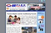 Air Flex Heating & Cooling Ltd (416-439-7155) - Website thumbnail - http://www.airflexltd.com