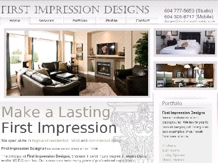 First Impression Designs (604-464-8344) - Website thumbnail - http://www.first-impression-designs.com