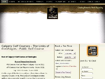 GlenEagles Golf Course (403-766-9202) - Website thumbnail - http://Gleneaglesgolf.com