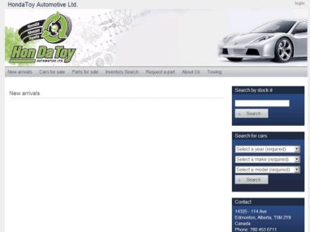 Hondatoy Automotive Ltd (780-453-6711) - Website thumbnail - http://www.hondatoy.com