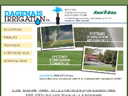 Dagenais Irrigation Inc (450-622-3533) - Website thumbnail - http://www.dagenaisirrigation.com