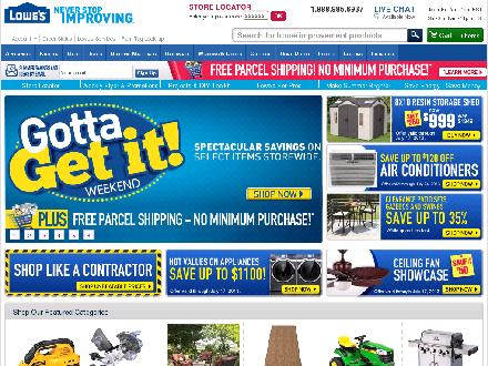 Lowes.ca - Onglet de site Web - http://www.lowes.ca