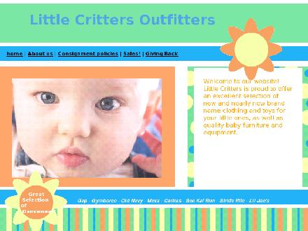 Little Critter's Outfitters (604-575-2500) - Onglet de site Web - http://www.littlecrittersoutfitters.com