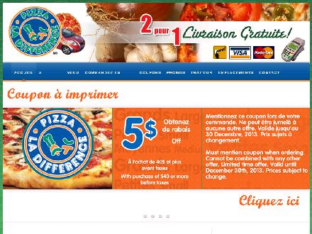 Pizza La Différence (819-770-0008) - Website thumbnail - http://www.pizzaladifference.com