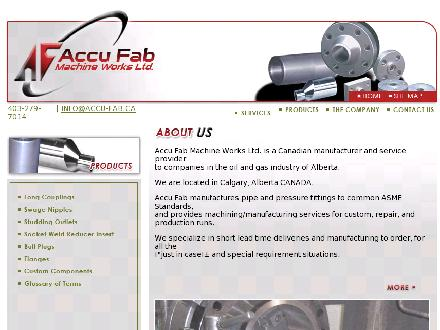 Accu Fab Machine Works Ltd (403-279-7014) - Website thumbnail - http://www.accu-fab.ca