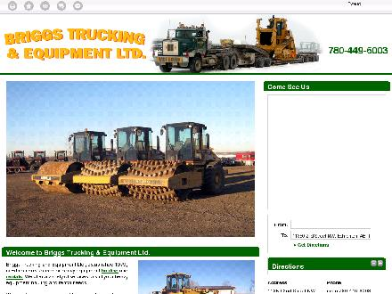 Briggs Trucking & Equipment Ltd (780-449-6003) - Onglet de site Web - http://www.briggsequipmentltd.com