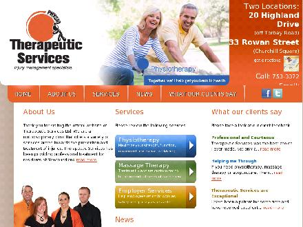 Therapeutic Services Physiotherapy (709-701-2362) - Onglet de site Web - http://www.tslphysio.ca