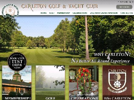 Carleton Golf & Yacht Club (613-692-3531) - Website thumbnail - http://www.carletongolf.com/