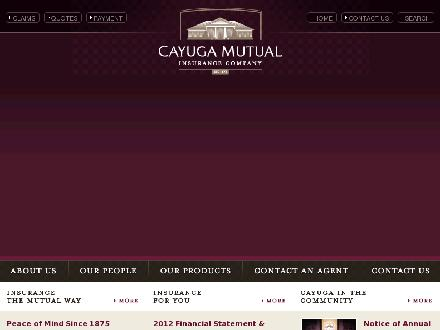 Cayuga Mutual Insurance Company (905-772-5498) - Website thumbnail - http://www.cayugamutual.com