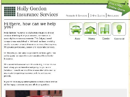 Holly-Gordon Insurance Services Ltd (403-508-1111) - Onglet de site Web - http://www.hollygordoninsurance.ca
