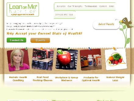 Lean On Me Nutrition (905-464-6366) - Onglet de site Web - http://www.leanonmenutrition.com