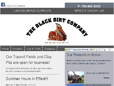 Black Dirt Company The (780-960-9193) - Website thumbnail - http://www.blackdirtcompany.com