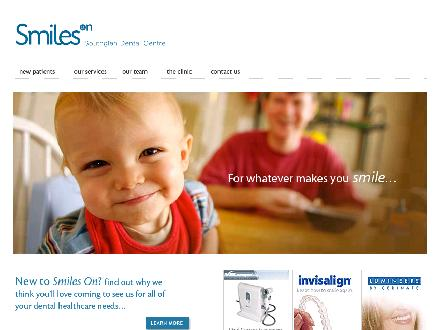Smiles on Southglen Dental Centre (204-897-6453) - Onglet de site Web - http://www.smilesondental.com