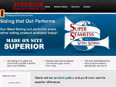 Superior Seamless Exteriors Ltd (204-632-9461) - Onglet de site Web - http://www.superior-seamless.com