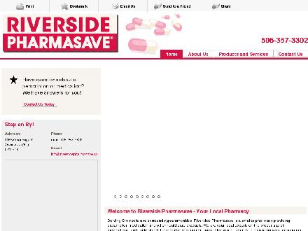 Riverside Pharmasave (506-357-3302) - Website thumbnail - http://riversidepharmasave.ca
