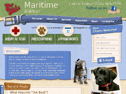 Maritime Animal Hospital (506-802-7864) - Website thumbnail - http://www.maritimeanimalhospital.ca