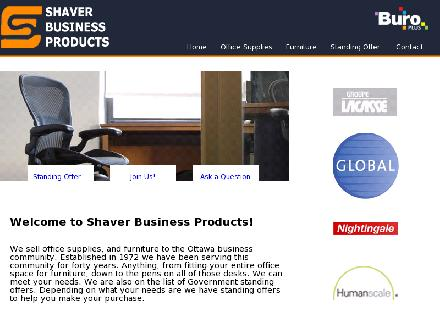 Shaver Business Products (613-226-3667) - Onglet de site Web - http://www.shaverbusinessproducts.com
