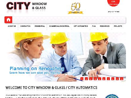 A City Window &amp; Glass (905-525-7470) - Onglet de site Web - http://www.citywindow.com