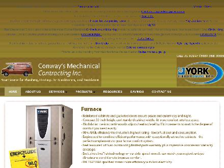 Conway's Mechanical Contracting Inc (905-358-3985) - Website thumbnail - http://www.conwaysmechanical.ca