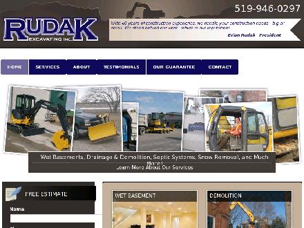 Rudak Excavating Inc (519-946-0297) - Website thumbnail - http://www.rudaksexcavating.ca