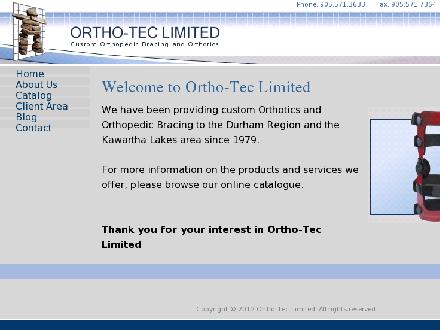 Ortho-Tec Limited (905-571-3633) - Website thumbnail - http://www.orthotec.ca