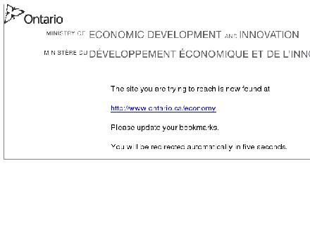 Economic Development and Trade (519-744-6391) - Onglet de site Web - http://www.ontario-canada.com