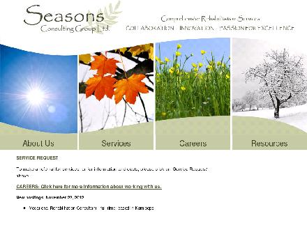 Seasons Consulting Group Ltd (250-314-0377) - Website thumbnail - http://www.seasonsconsultgroup.ca