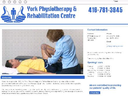York Physiotherapy And Rehabilitation Centre (416-781-3945) - Website thumbnail - http://yorkphysiotherapy.ca/