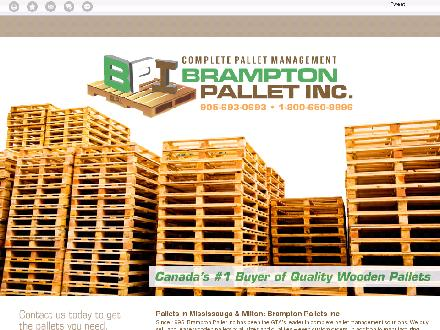 Brampton Pallet Inc (905-693-0693) - Onglet de site Web - http://bramptonpallet.com/