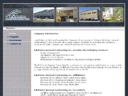R K Porter General Contracting Inc (613-264-8343) - Onglet de site Web - http://www.rkporter.com