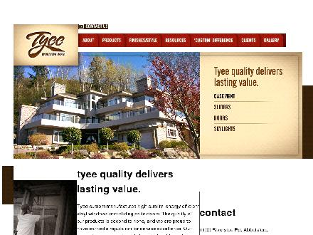 Tyee Mfg (604-852-5304) - Onglet de site Web - http://www.tyeewindows.com