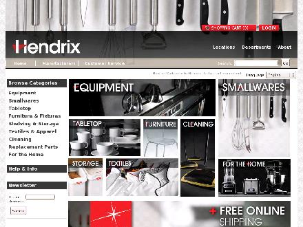 Hendrix Restaurant Equipment & Supplies (780-454-0432) - Onglet de site Web - http://www.HendrixEquip.com