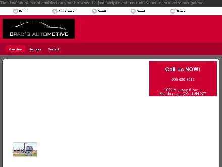 Brad's Automotive (905-689-6919) - Website thumbnail - http://bradsautomotive.ca/