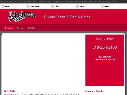Riviera Pizza & Fish & Chips (519-254-2100) - Onglet de site Web - http://serrasrivierapizza.com/