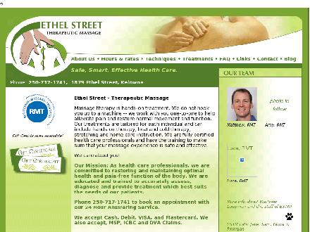 Ethel St Therapeutic Massage Clinic (250-717-1741) - Website thumbnail - http://www.kelownamassage.ca