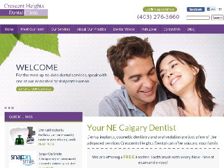 Crescent Heights Dental Clinic (403-276-3660) - Onglet de site Web - http://www.crescentdental.ca