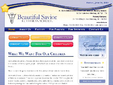 Beautiful Savior Lutheran School (204-984-9600) - Onglet de site Web - http://www.bsls.ca